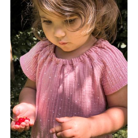 Carmenbluse aus Musselin