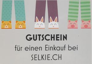 Geschenkgutschein von Selkie für handgenähte Kinderbekleidung