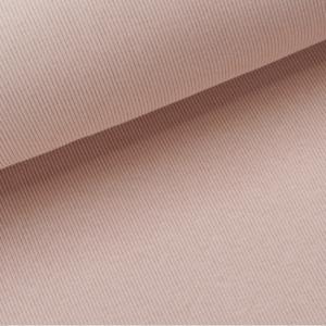 Rib strick aus Baumwolle in puder
