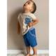Sommerkombi Shirt legere mit Bermuda shorts